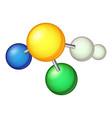 biology molecule icon cartoon style vector image