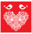 birds for valentines day vector image vector image