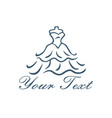 boutique gown bridal logo design template vector image