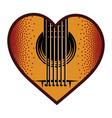 brown plectrum for guitar heart element vector image vector image