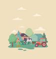 caucasian farmer on farm vector image