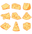 Cheese slice Hand drawn cheese sketch vector image vector image