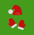 christmas bell accessories to santa claus vector image vector image