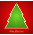 Christmas greeting card with cartoon xmas tree vector image vector image