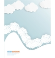 cloud and tree Abstract web vector image vector image