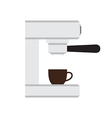 Coffee machine with cup in love heart illus vector image vector image