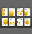 corporate brochure cover design templates vector image