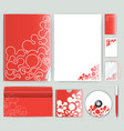 corporate identity template with color elements vector image vector image
