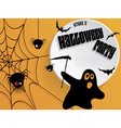 Creative Halloween party poster with message vector image
