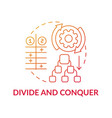 divide and conquer red gradient concept icon vector image vector image