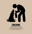 Drunk Person Graphic Symbol vector image vector image