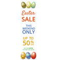 easter sale web banner vector image vector image