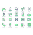 electronic devices simple line icons vector image vector image