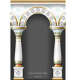 fabulous ancient arch in oriental style vector image