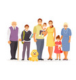 family with dog vector image vector image