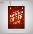 fantastic offer sale background vector image