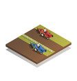 farm agricultural machinery isometric composition vector image vector image