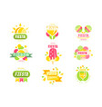 fiesta logo set labels for a holiday colorful vector image vector image