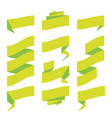 folded ribbon banner set collection green vector image vector image
