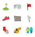 football icons set cartoon style vector image