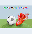 football shoes and ball vector image vector image
