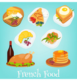 french food set vector image vector image