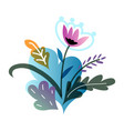 gardening flowers isolated on white background vector image vector image