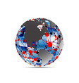 Global network vector image vector image