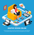 graphic design concept vector image vector image