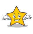 grinning star character cartoon style vector image vector image