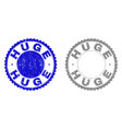grunge huge textured stamp seals vector image vector image
