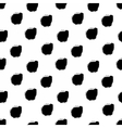 Hand drawn black dots seamless pattern vector image vector image