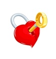 heart and key symbol love vector image vector image