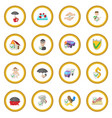 insurance icon circle vector image