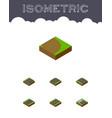 isometric way set of unilateral rotation upwards vector image vector image