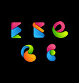 letter e colorful logo vector image