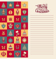 mery christmas template for greeting card vector image vector image