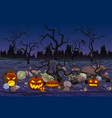 mystery forest with pumpkin vector image vector image
