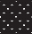pattern with christmas balls and snowflakes vector image vector image