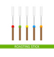 roasting sticks isolated vector image