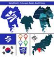 saha district busan city south korea vector image vector image