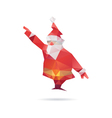 Santa Claus isolated on a white backgrounds vector image