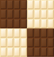 Seamless black and white chocolate pattern vector image