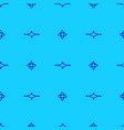 seamless pattern on the cyan background vector image vector image