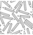 seamless pattern with school tools vector image