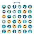 Set of stylish avatars man and woman icons vector image vector image