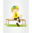 Sitting on a bench vector image vector image