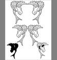 sparrow tattoo birds vector image vector image