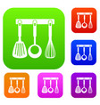 spatula ladle and whisk kitchen tools set vector image vector image