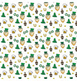 st patricks day hand drawn doodle seamless vector image vector image